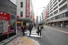 各線高田馬場駅からシェアハウスへ向かう道の様子。(2008-04-25,共用部,ENVIRONMENT,1F)