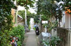 シェアハウス前の路地。(2012-09-09,共用部,OTHER,2F)