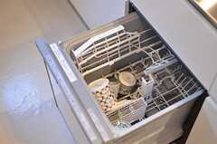 食洗機の様子。(2012-07-04,共用部,KITCHEN,1F)