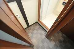 B棟の脱衣室の様子。(2012-03-27,共用部,BATH,1F)