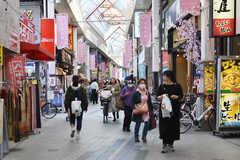 各線・阿佐ヶ谷駅周辺の様子。商店街があります。(2018-04-02,共用部,ENVIRONMENT,1F)