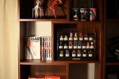 棚にはマンガやフィギュアが並んでいます。(2013-06-12,共用部,OTHER,1F)