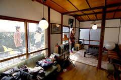 雑誌取材時の入居者さんの様子2。(2009-03-29,共用部,PARTY,1F)