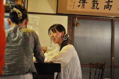 TV取材を受ける入居者さんの様子。(2010-09-18,共用部,PARTY,1F)