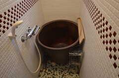 五右衛門風呂です。(2014-05-16,共用部,BATH,1F)