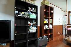 各部屋ごとに調味料などを置いておく収納棚。(2013-10-17,共用部,LIVINGROOM,1F)