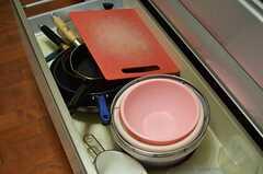 調理器具の様子。(2013-10-17,共用部,KITCHEN,1F)