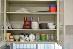 食器棚の様子。(2014-11-12,共用部,KITCHEN,1F)