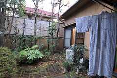 リビングから庭に出ることができます。(2011-01-26,共用部,OTHER,1F)