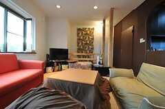 シェアハウスのリビングの様子3。(2011-01-26,共用部,LIVINGROOM,2F)