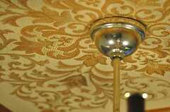 シャンデリアの付け根周りには、西洋風の刺繍が施されています。(2012-02-14,共用部,LIVINGROOM,1F)