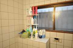シャンプー類を置く棚が用意されています。(2012-02-14,共用部,BATH,1F)