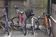 駐輪場の様子。(2012-02-14,共用部,GARAGE,1F)