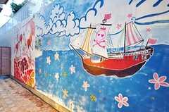 海賊をテーマに運営事業者さんがペイントをしたそう。(2010-03-01,共用部,OTHER,1F)