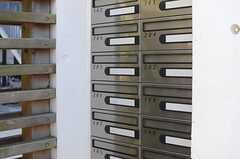 ドア脇には集合ポストが設置されています。(2013-12-13,共用部,OTHER,1F)