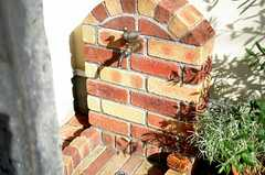 玄関の右手に小鳥の蛇口があります。(2015-08-11,共用部,OTHER,1F)