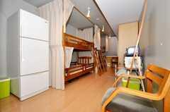 ドミトリーの様子。(102号室)(2009-08-31,共用部,LIVINGROOM,1F)