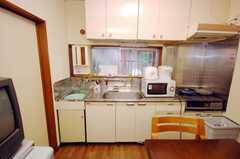 シェアハウスのキッチンの様子。(2008-08-13,共用部,KITCHEN,1F)