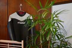 ウェットスーツはオーナーさんの私物。(A棟)(2013-10-07,共用部,LIVINGROOM,1F)