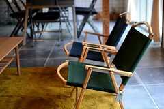 折りたたみ式のキャンバスチェア。(2015-03-04,共用部,LIVINGROOM,1F)