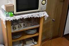 食器棚の様子。(2016-01-14,共用部,KITCHEN,1F)
