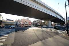 シェアハウスから駅に向かう途中の様子。商店街があります。(2016-01-14,共用部,ENVIRONMENT,1F)