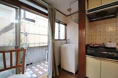 洗濯機の様子。(2012-05-21,共用部,LAUNDRY,1F)