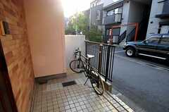 自転車置き場の様子。(2012-05-21,共用部,OTHER,1F)