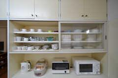 食器棚の様子。(2016-03-10,共用部,KITCHEN,1F)