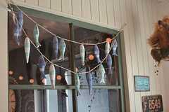 魚がいっぱい吊り下げられています。(2015-08-03,周辺環境,ENTRANCE,1F)
