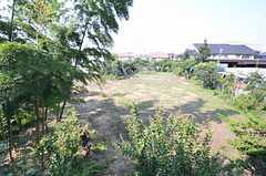 外廊下から見えるのは畑で開放的です。(2015-08-03,共用部,OTHER,2F)