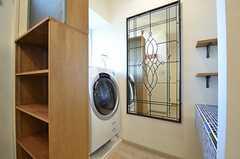 洗濯機の様子。(2015-08-03,共用部,LAUNDRY,2F)