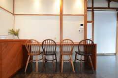 カウンターテーブルの様子。(2016-02-01,共用部,OTHER,2F)