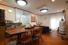 リビングの様子。オーナーさんは同居はしませんが、共用部を使用することがあります。(2015-03-04,共用部,LIVINGROOM,1F)