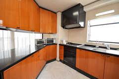 シェアハウスのキッチンの様子。(2009-04-14,共用部,KITCHEN,4F)