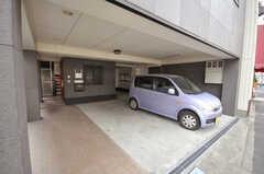 自転車置場の様子。(2009-04-14,共用部,GARAGE,1F)