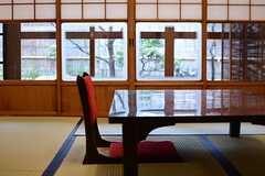 親しみやすい座卓は、ほっと和む雰囲気。(2015-02-25,共用部,LIVINGROOM,1F)