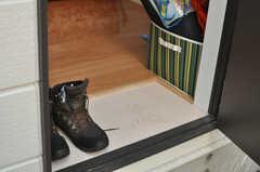 入り口には小さな土間があります。(101号室)(2014-01-09,専有部,ROOM,1F)