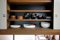 食器棚の様子。(2011-09-29,共用部,KITCHEN,1F)