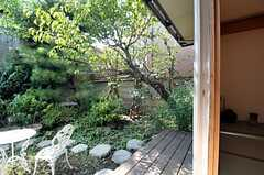 部屋から見た庭の様子。(101号室)(2011-09-29,専有部,ROOM,1F)
