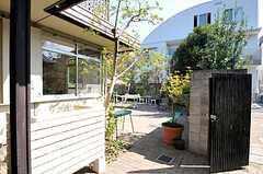 玄関脇には大きな庭があります。(2011-09-29,共用部,OTHER,1F)