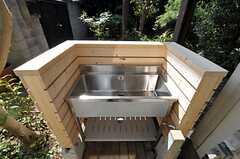 洗い場の様子。便利そう。(2011-09-29,共用部,OTHER,1F)