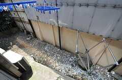 リビング脇の物干し場の様子。(2014-04-14,共用部,OTHER,1F)