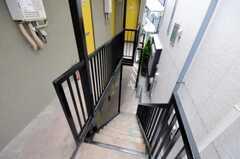 外階段の様子。(2010-09-14,共用部,OTHER,2F)
