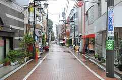 JR各線・阿佐ヶ谷駅からシェアハウスへ向かう道の様子。(2013-03-11,共用部,OTHER,1F)