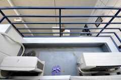 ベランダの様子。(202号室)(2009-03-02,専有部,ROOM,2F)