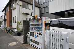 敷地内に自動販売機があります。(2013-06-18,共用部,ENVIRONMENT,1F)