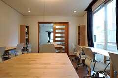 仕事スペースの様子2。(2014-02-03,共用部,LIVINGROOM,1F)