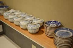 お椀や小皿も揃っています。(2015-02-05,共用部,KITCHEN,1F)
