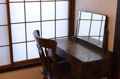机と椅子のの様子。(105号室)(2015-02-05,専有部,ROOM,1F)